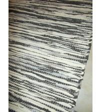 Póló rongyszőnyeg barna 75 x 200 cm