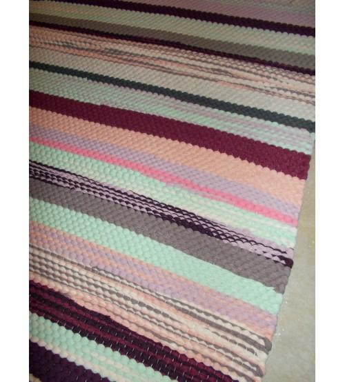 Póló rongyszőnyeg színes 75 x 150 cm
