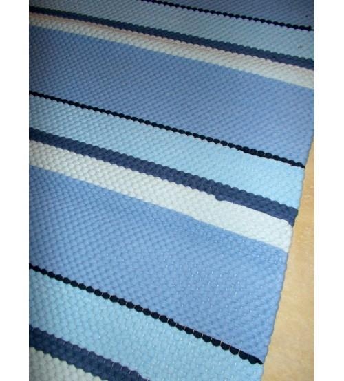 Póló rongyszőnyeg kék 70 x 155 cm