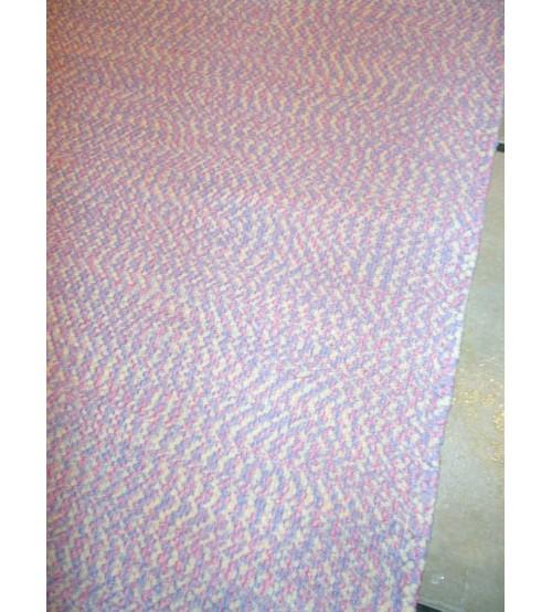 Pamut rongyszőnyeg rózsaszín 85 x 190 cm