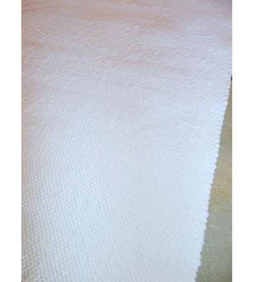 Pamut rongyszőnyeg fehér 65 x 105 cm