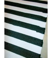 Pamut rongyszőnyeg fekete, fehér 60 x 155 cm