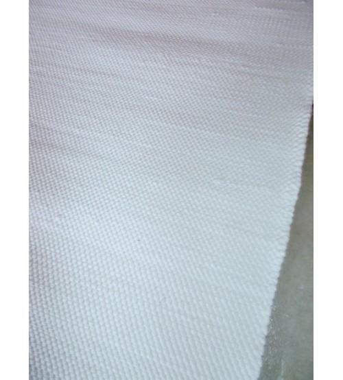 Pamut rongyszőnyeg fehér 60 x 220 cm