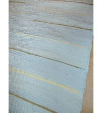 Pamut rongyszőnyeg kék, sárga, barna 70 x 150 cm