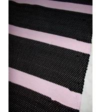 Pamut rongyszőnyeg rózsaszín, fekete 160 x 200 cm