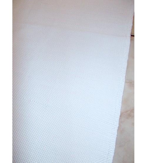 Pamut rongyszőnyeg fehér 65 x 75 cm
