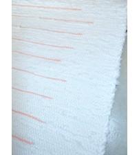 Pamut rongyszőnyeg fehér, sárga 60 x 145 cm
