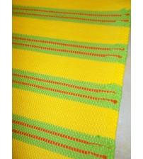 Pamut rongyszőnyeg sárga, zöld 55 x 150 cm