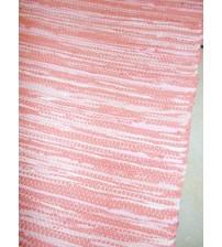 Pamut rongyszőnyeg rózsaszín 80 x 195 cm