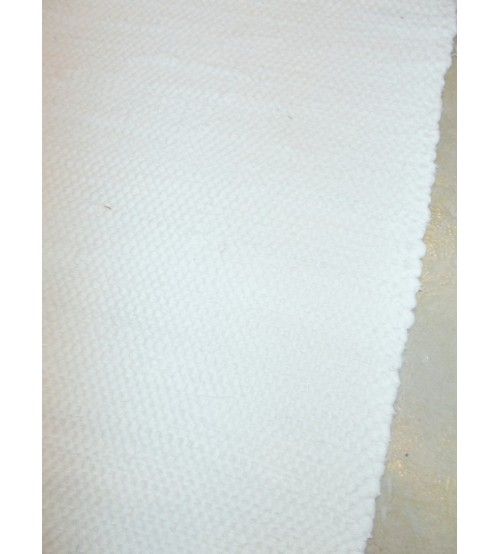 Pamut rongyszőnyeg világos nyers 70 x 150 cm