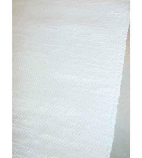 Pamut rongyszőnyeg világos nyers 70 x 260 cm