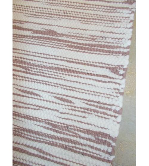 Pamut rongyszőnyeg barna, nyers 70 x 80 cm