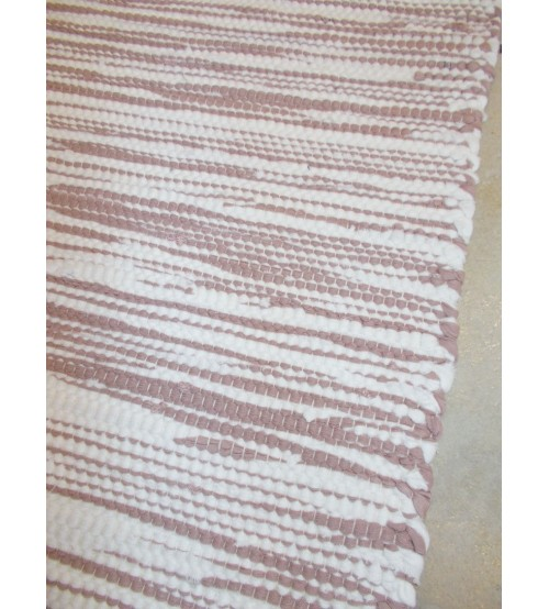 Pamut rongyszőnyeg barna, nyers 70 x 150 cm