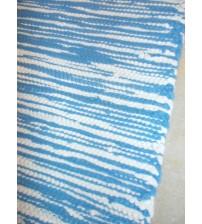 Pamut rongyszőnyeg kék, nyers 70 x 200 cm