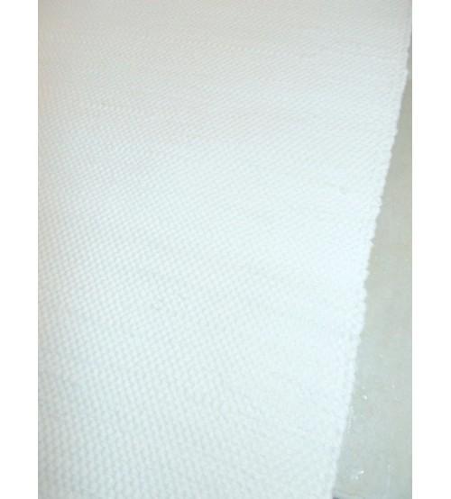 Pamut rongyszőnyeg világos nyers 70 x 210 cm