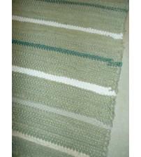 Pamut rongyszőnyeg zöld, nyers 70 x 120 cm