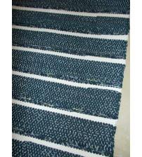 Pamut rongyszőnyeg kék, fehér 80 x 190 cm