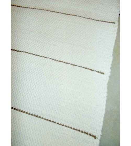 Pamut rongyszőnyeg nyers, barna 85 x 205 cm