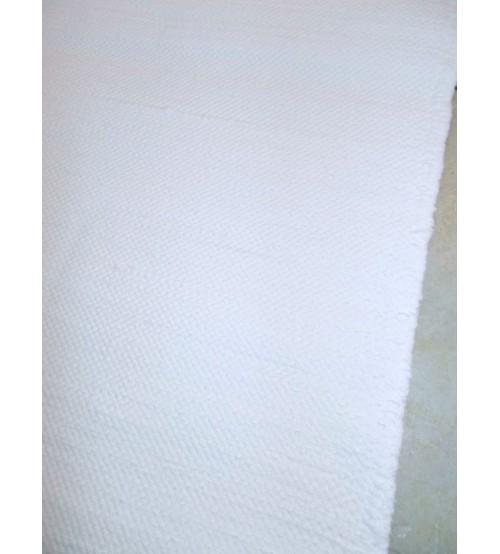 Pamut rongyszőnyeg fehér 75 x 200 cm