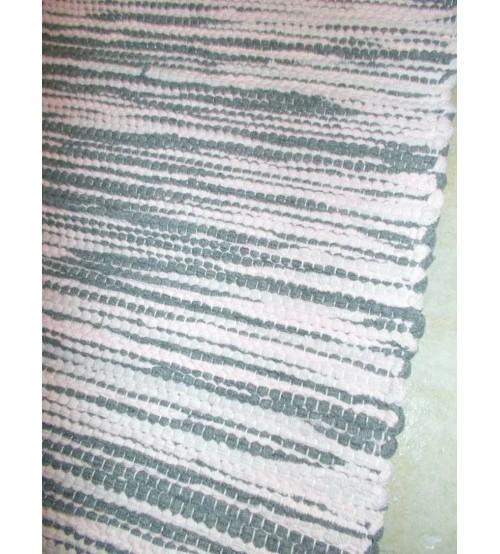 Pamut rongyszőnyeg szürke, rózsaszín 80 x 160 cm