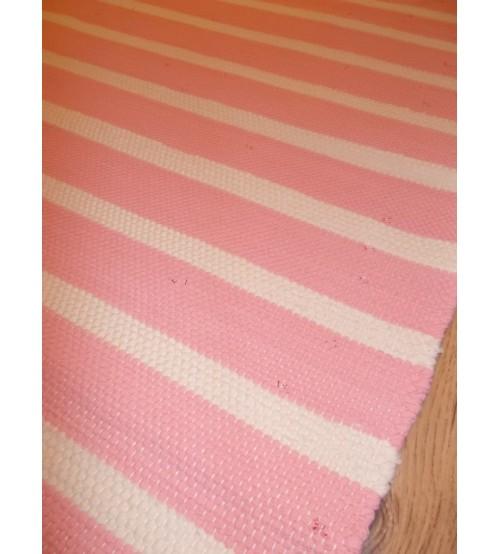 Pamut rongyszőnyeg rózsaszín, nyers 75 x 100 cm