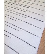 Pamut rongyszőnyeg fehér, szürke 70 x 155 cm