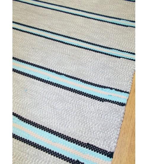 Pamut rongyszőnyeg szürke, kék 75 x 210 cm