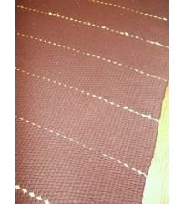 Pamut rongyszőnyeg barna, sárga 60 x 190 cm