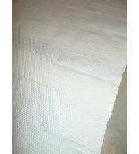 Pamut rongyszőnyeg nyers, fehér 85 x 125 cm