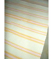 Pamut rongyszőnyeg sárga, rózsaszín 60 x 200 cm
