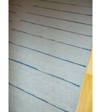 Pamut rongyszőnyeg szürke, kék 165 x 210 cm
