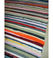 Pamut rongyszőnyeg színes 85 x 190 cm