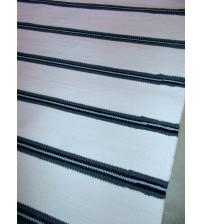 Pamut rongyszőnyeg fehér, szürke 90 x 210 cm