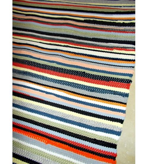 Pamut rongyszőnyeg színes 85 x 185 cm