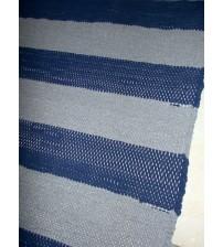 Pamut rongyszőnyeg szürke, kék 175 x 200 cm