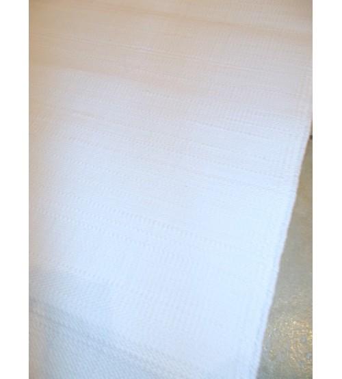 Pamut rongyszőnyeg fehér 70 x 210 cm