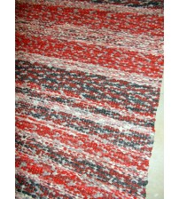 Vászon rongyszőnyeg piros, fekete 75 x 175 cm