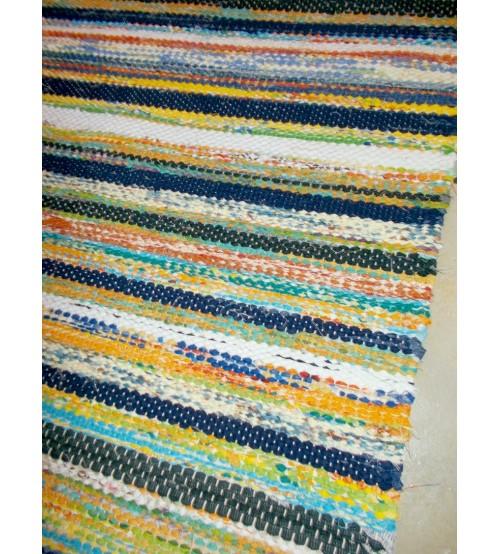 Vászon rongyszőnyeg színes 70 x 155 cm