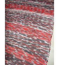 Vászon rongyszőnyeg piros, fekete 50 x 150 cm