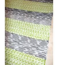 Vászon rongyszőnyeg szürke, zöld 85 x 185 cm