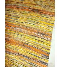 Vászon rongyszőnyeg sárga, fekete 60 x 125 cm