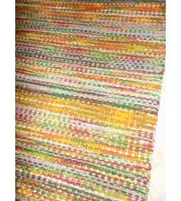 Vászon rongyszőnyeg színes 75 x 115 cm