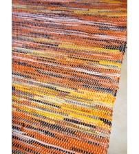 Vászon rongyszőnyeg sárga, szürke 155 x 195 cm
