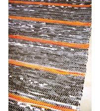 Vászon rongyszőnyeg szürke, sárga 155 x 195 cm