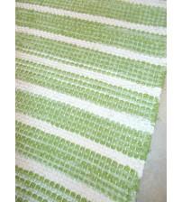 Vászon rongyszőnyeg zöld, nyers 70 x 170 cm