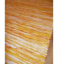 Vászon rongyszőnyeg sárga 75 x 200 cm