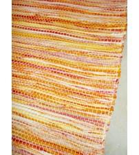 Vászon rongyszőnyeg sárga 70 x 100 cm