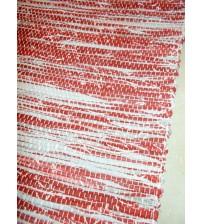 Vászon rongyszőnyeg bordó, szürke 70 x 100 cm