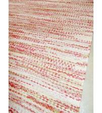Vászon rongyszőnyeg piros, sárga 80 x 155 cm