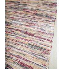 Vászon rongyszőnyeg  barna, bordó, szürke 70 x 150 cm